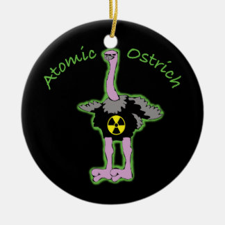 Atomic Ostrich character and name Ceramic Ornament