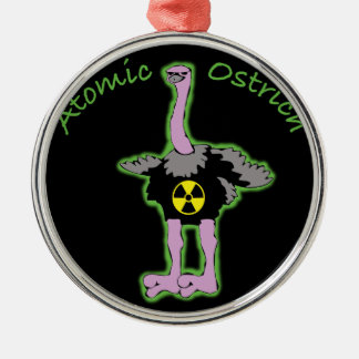 Atomic Ostrich character and name Metal Ornament