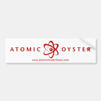 Atomic Oyster (alt logo) bumper sticker (red)