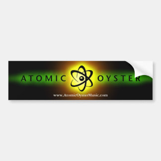 "Atomic Oyster ""glowing logo"" bumper sticker"