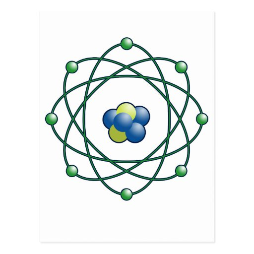 Atomic Particles Postcard