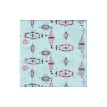 Atomic Pink & Grey Pattern Marble Magnet