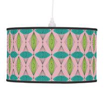 Atomic Pink Ogee & Starburst Pendant Lamp