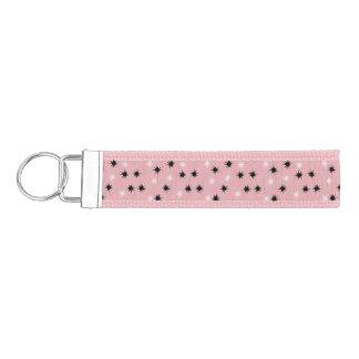 Atomic Pink Starbursts Grosgrain Keychain