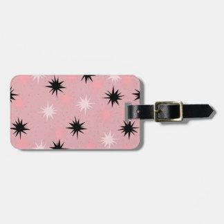 Atomic Pink Starbursts Luggage Tag