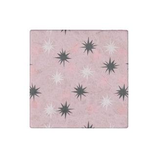 Atomic Pink Starbursts Marble Magnet Stone Magnet