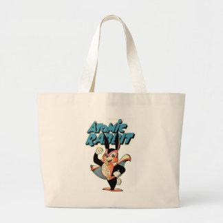 Atomic Rabbit funny furry animal superhero Large Tote Bag