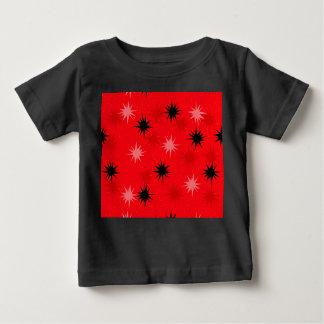 Atomic Red Starbursts Baby T-Shirt
