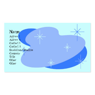 Atomic Retro Blue Business Card