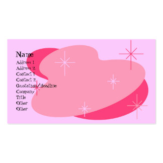 Atomic Retro Pink Double-Sided Standard Business Cards (Pack Of 100)