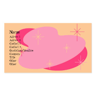 Atomic Retro Pink & Peach Business Card