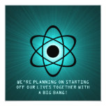 Atomic Save the Date Invite, Teal