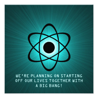 Atomic Save the Date Invite Teal