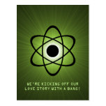 Atomic Save the Date Postcard, Green