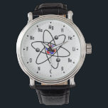 """Atomic Science / Chemistry Wristwatch<br><div class=""""desc"""">Funny and Geeky Atomic Watch featuring the elements off the periodic table.  Each elements atomic number represents the number on the clock. Great for you science / chemistry geeks out there.</div>"""