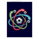 Atomic Soccer Greeting Cards
