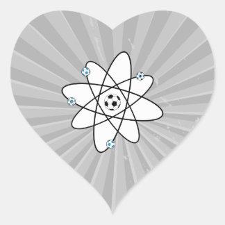 atomic soccer heart sticker
