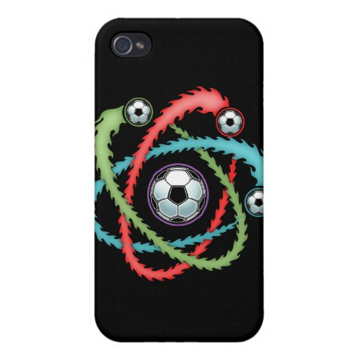 Atomic Soccer iPhone 4/4S Cases