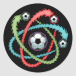 Atomic Soccer Round Stickers