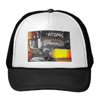 atomic space man black & white 1950s trucker hat