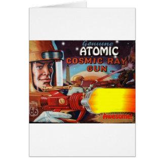 atomic space man ray gun card
