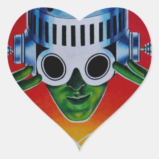 ATOMIC SPACEMAN HEART STICKER