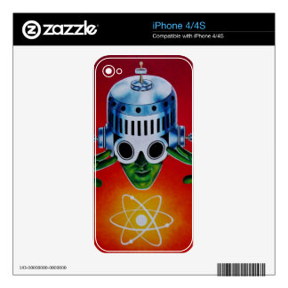 ATOMIC SPACEMAN iPhone 4S DECALS