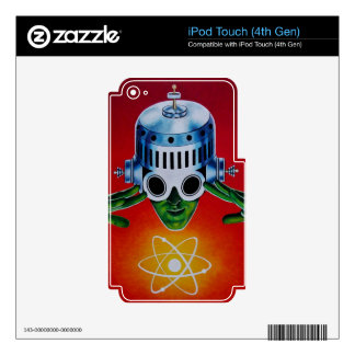 ATOMIC SPACEMAN iPod TOUCH 4G DECAL