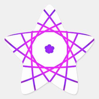 Atomic Star Sticker