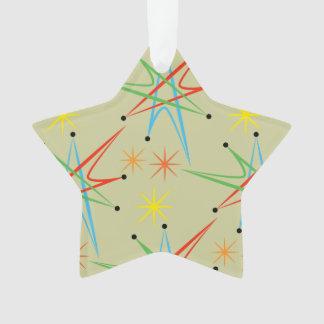 Atomic Starburst Retro Multicolored Pattern