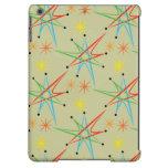Atomic Starburst Retro Multicolored Pattern iPad Air Covers
