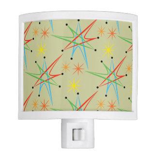 Atomic Starburst Retro Multicolored Pattern Nite Lights