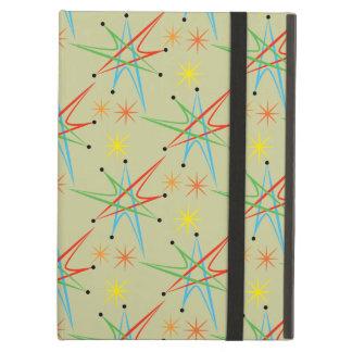 Atomic Starburst Retro Multicolored Pattern Cover For iPad Air