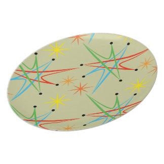 Atomic Starburst Retro Multicolored Pattern Dinner Plate