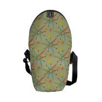 Atomic Starburst Retro Multicolored Pattern Messenger Bag