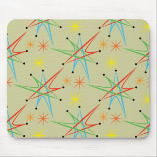 Atomic Starburst Retro Multicolored Pattern Mouse Pad