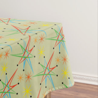 Atomic Starburst Retro Multicolored Pattern Tablecloth