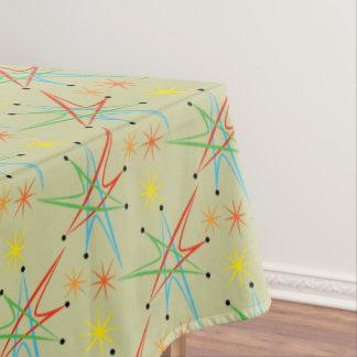 Atomic Starburst Retro Multicolored Pattern Tablecloth