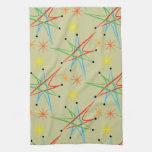 Atomic Starburst Retro Multicolored Pattern Towel