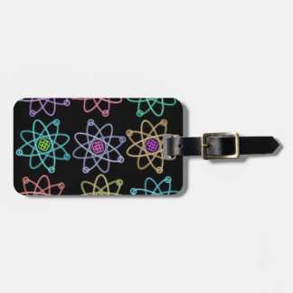 Atomic Structure Pattern Bag Tag
