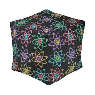 Atomic Structure Pattern Pouf