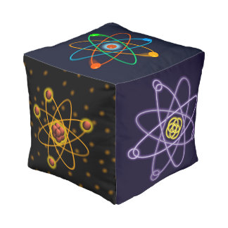 Atomic Structures Cube Pouf