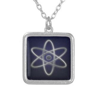 Atomic Symbol Square Pendant Necklace