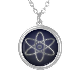 Atomic Symbol Round Pendant Necklace