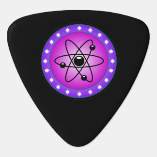 Atomic Symbol on a Pink background Guitar Pick