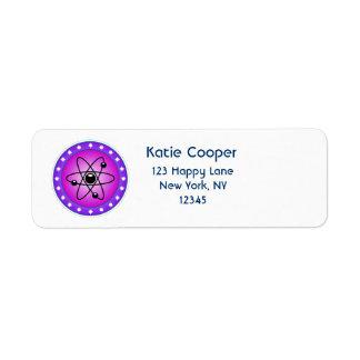 Atomic Symbol on a Pink background Label
