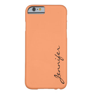 Atomic tangerine color background barely there iPhone 6 case
