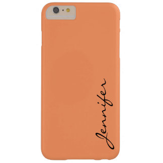 Atomic tangerine color background barely there iPhone 6 plus case