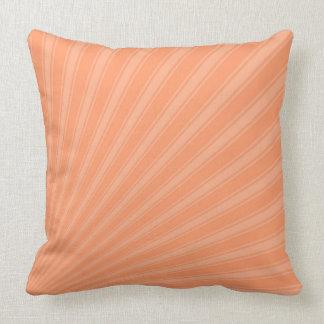 Atomic tangerine Color Stripe Funky Pattern Throw Pillow