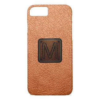 Atomic tangerine Leather Look Monogram iPhone 7 Case